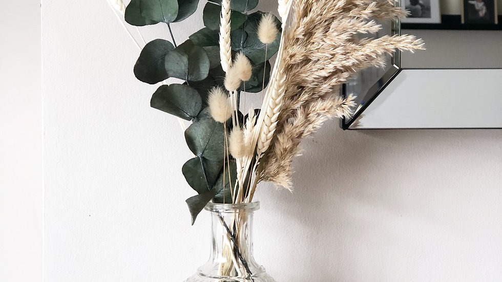 Mini bouquet eucalyptus, pampas, wheat and natural bunny tails