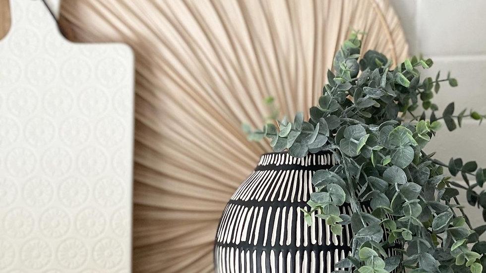 Black & white Sia vase