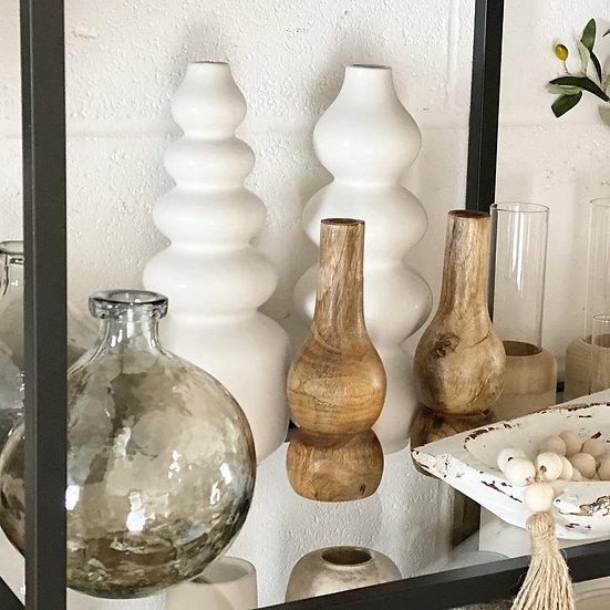 Sia curvy white vase