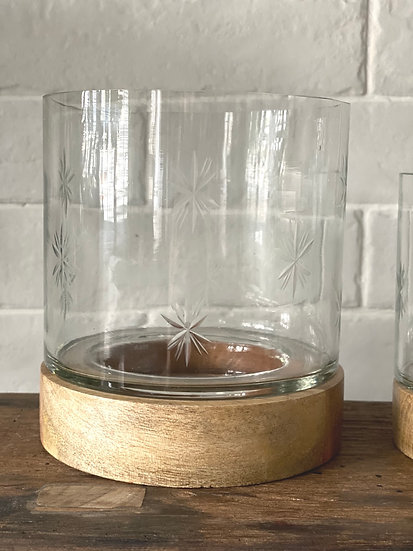 Star etched candle holders