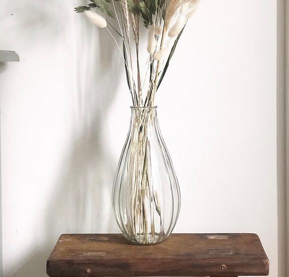Ribbed vase 24cm tall