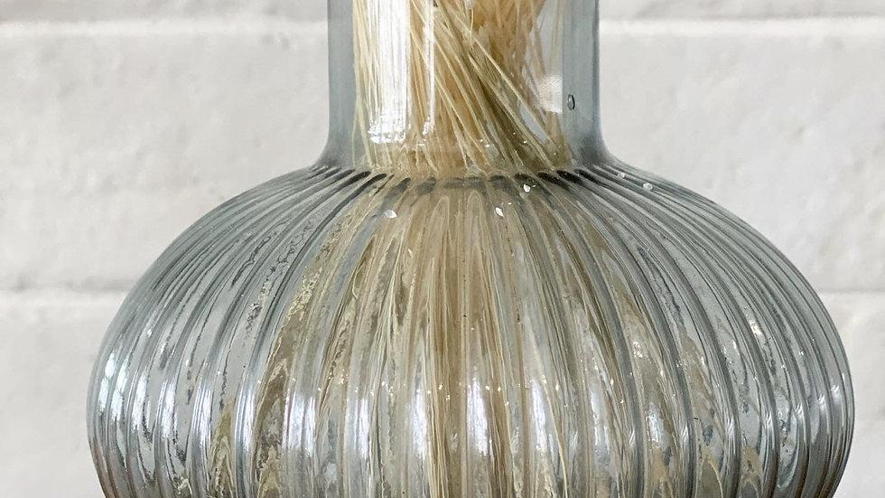Grey ribbed bud vase
