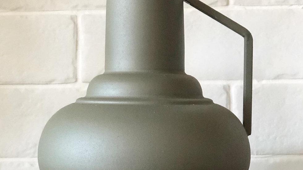 Khaki metal vase