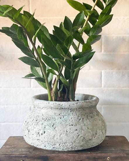 Textured grey pot