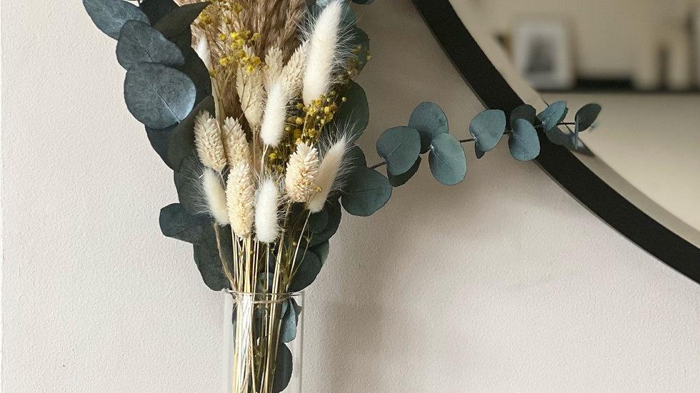 Yellow gypsophila mini bouquet