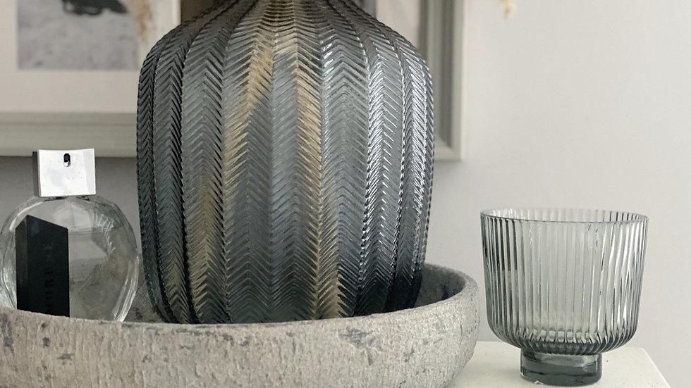 Smoked grey small flowerpot