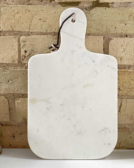 Marble large paddle serving board