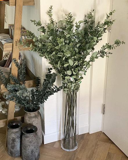 Faux eucalyptus 115cm tall stem