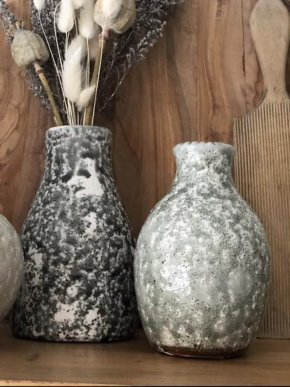 Shorter sage mottled vase