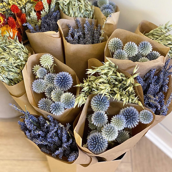 Single bunches of dried plants