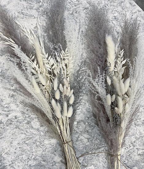 Grey fluffy pampas bouquet