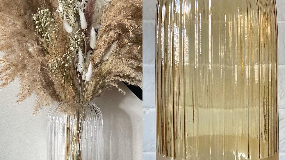 Amber or clear Cali vase