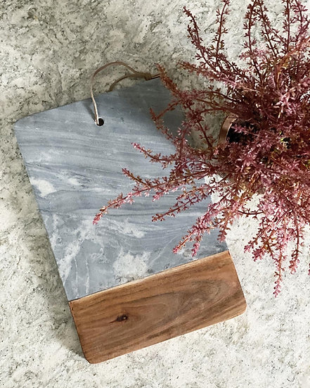 Grey marble and wood board