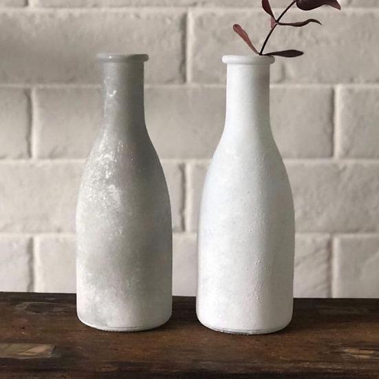 White faded vase