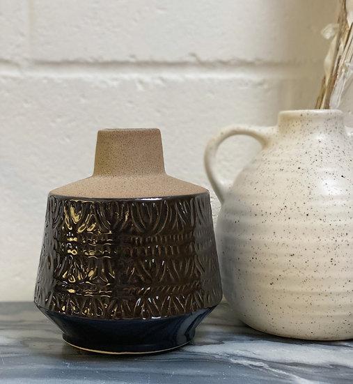 Ottie sand coated vase