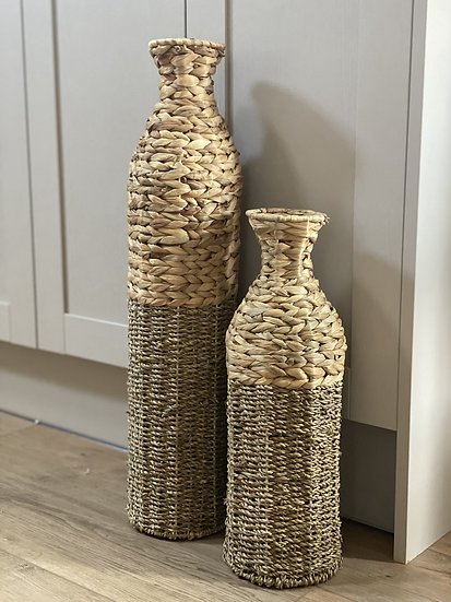 Woven floor vase