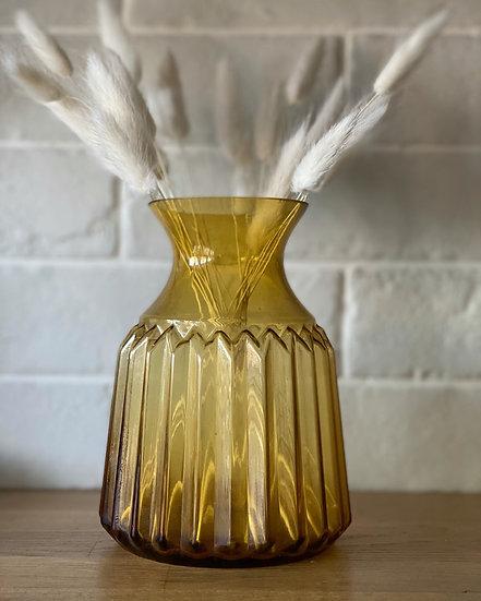 Brown smoked vase