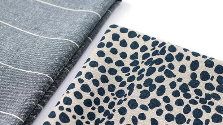 Navy leopard print tea towel set