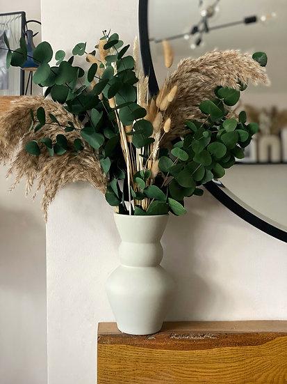Juni beige matte vase