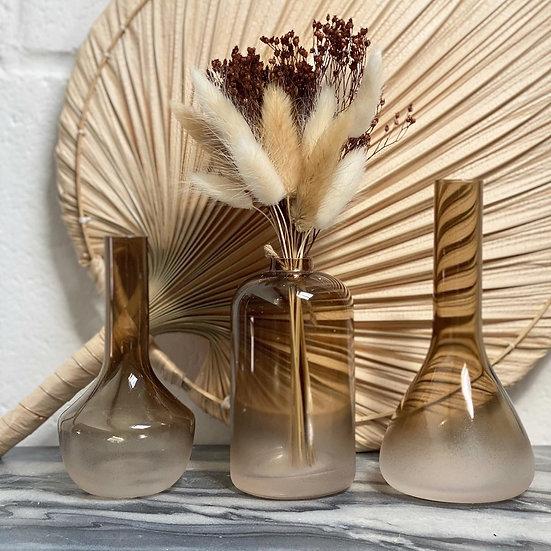 Smoked brown bud vase