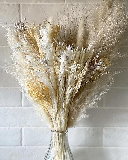 White fluffy pampas bouquet