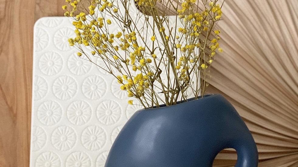 Organic blue vase