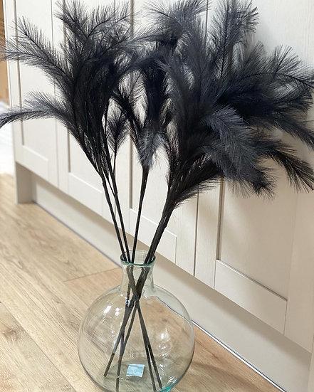 Faux black feather stem