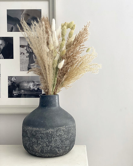 Fluffy natural phalaris bouquet