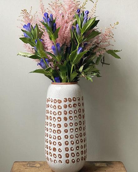 Glazed white large vase