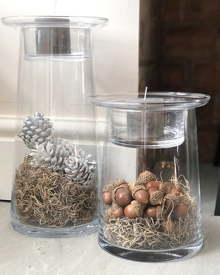 Medium fillable candle holder