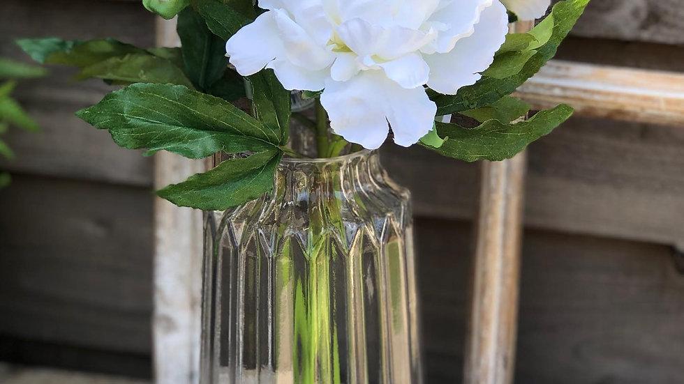 Extra large clear ridge vase