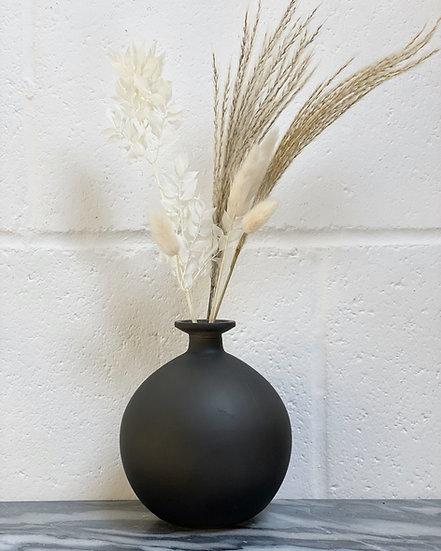 Black sphere vase