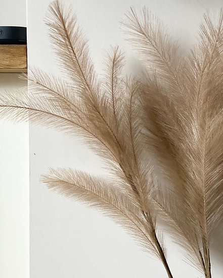 Faux feather pampas grass stem coffee