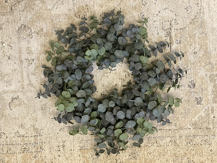 Prestige faux dusty eucalyptus wreath
