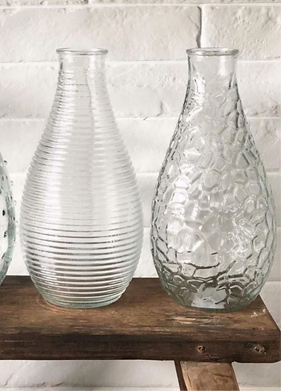 Ribbed vase (left)