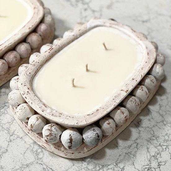 Bohemian beaded candle