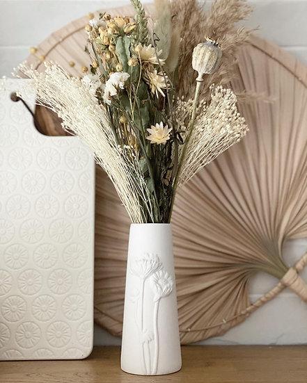 Ola floral patterned vase