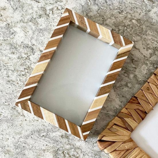 Acacia wooden frame
