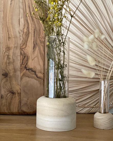 Larger wooden based vase