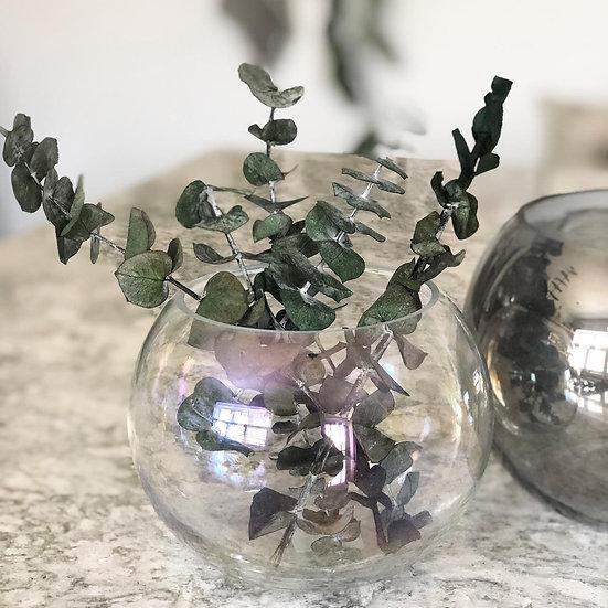 Iridescent round bowl/vase
