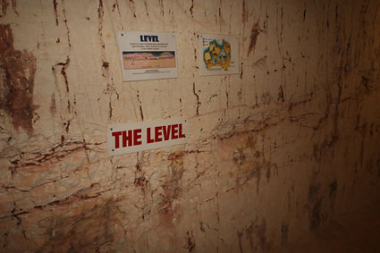the level where opal solution gets deposited