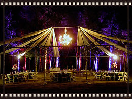 outdoor event with uplighting
