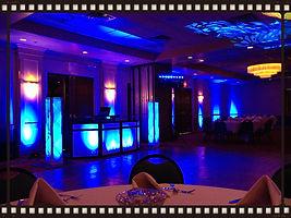 ballroom wedding uplighting az