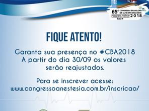 Fique atento às inscrições do CBA 2018 e garanta a sua vaga!