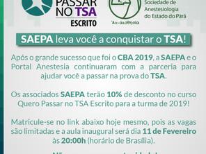 Associados da Saepa terão 10% de desconto no curso - Quero Passar no TSA