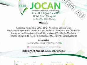 XXIII JOCAN, será realizada em agosto