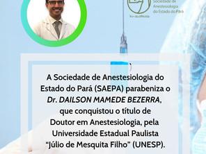 SAEPA parabeniza o Doutor Dailson Mamede Bezerra