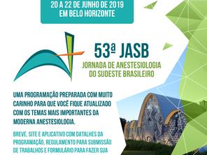 A 53° Jornada de Anestesiologia do Sudeste Brasileiro (JASB)