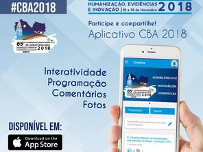CBA 2018 lança aplicativo para celular