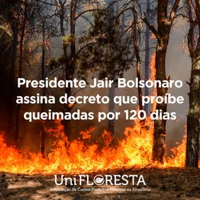 Governo federal publica decreto que proíbe queimadas por 120 dias